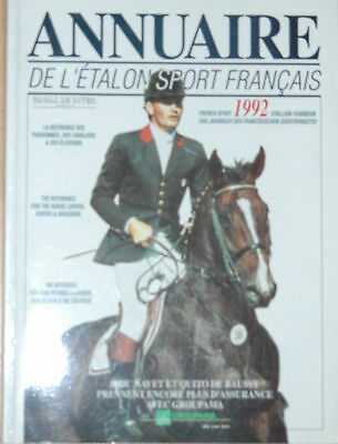 Annuaire De L'Etalon Sport Francais*Hengstbuch*Stallion Yearbook*Selle Francais