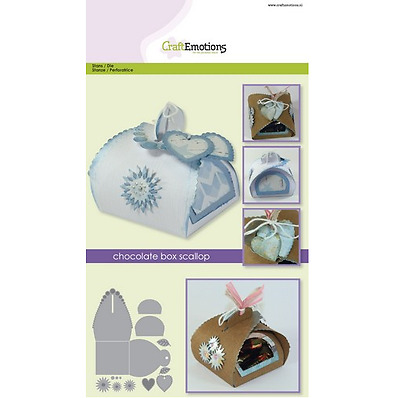 CraftEmotions Die - chocolate box scallop Card A5 box 64x64x68 mm 331501