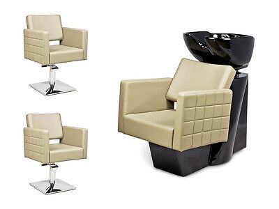 SALON HAIRDRESSING STYLING FURNITURE SETS Backwash Shampoo Styling Chairs CUBO!