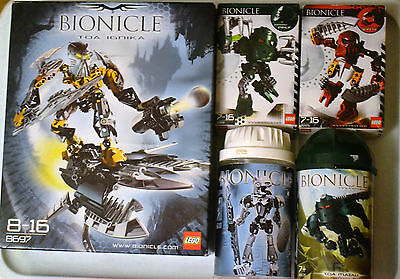 LEGO Bionicle 5 empty boxes containers 8697 8725 8723 8571 8605