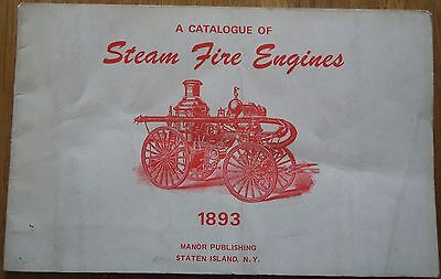 Catalogue of Steam Fire Engines 1893 - 1975 publication