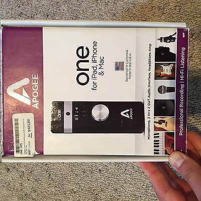 Apogee ONE for iPad, iPhone and Mac - Audio Interface