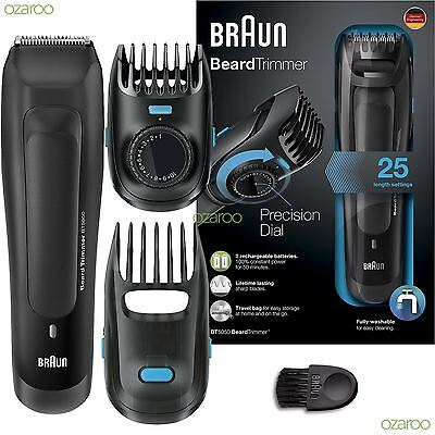 Braun BT5050 Mens Beard Trimmer Cordless Rechargeable Electric Hair Styling Kit