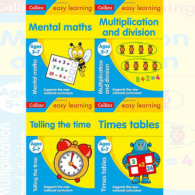 Collins Easy Learning 4 Books Collection Set Mental Maths Ages 5-7 New