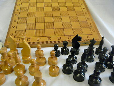 Traditional Handmade Wooden Chess and Backgammon Set