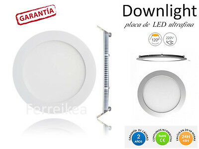 DOWNLIGHT LED ULTRAFINO VARIOS TAMAÑOS 6W 9W 12W 20W REDONDOS placa led techo