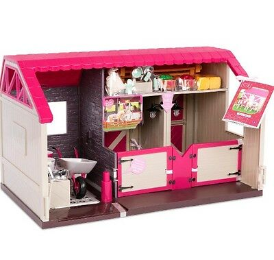 """Our Generation Lori Stable, Trailer, & Horse For Mini American Girl 6"""" Doll"""