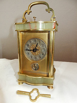 Reiseuhr / Wecker Stundenschlag Repetition 1880 Striking Carriage-Clock, Alarm