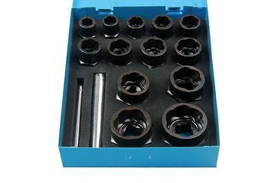Bergen 15pc Bolt Extractor Set 3/8'' and 1/2'' Drive B2596