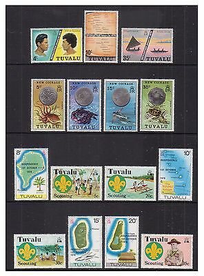 Tuvalu - Small collection - u/m - 1976/81 - 14 sets