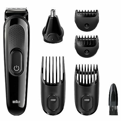 Braun MGK3020 Men Multi-Grooming Kit 6-in-1 Beard & Hair Clipper Trimming Shaver
