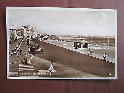 Penzance, The Promenade - old RP postcard -unposted