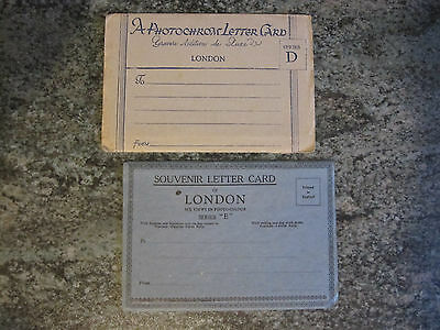 London - Photochrom Letter Cards - Series D & E each with 6 London Views