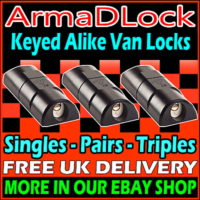 High Security Van Lock ArmaDLock Rear Door + Sliding Side Door Arma D Mul-T-Lock