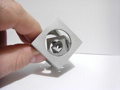"""Cube in a cube.A unique hand-made """"Cube inside a Cube"""" souvenir.Handmade gift"""