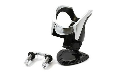 All Ride Can holder black/chrome, adhesive