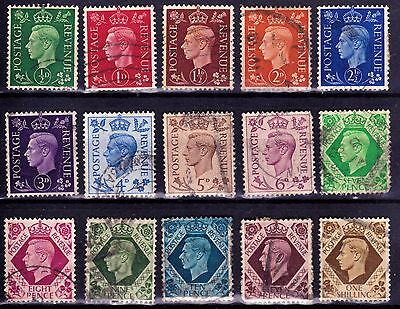 SG462-475 KGVI FULL definitive Set. Good Used Examples. CV £10.00 F