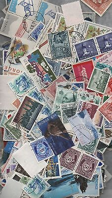 Norway Kiloware off paper 50gm fine used excellent selection 200+ stamps scarce