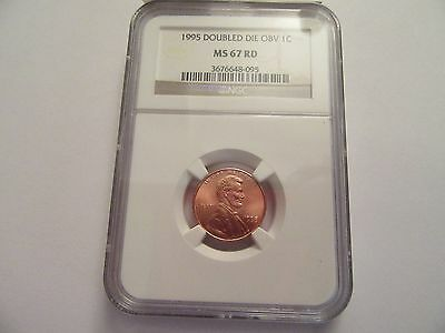 1995 Lincoln Penny, Double Die Obverse, NGC MS 67 RD