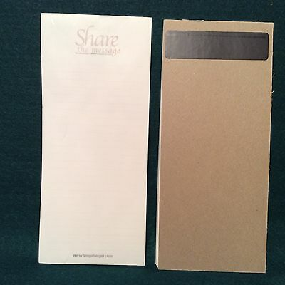 Longaberger HORIZON OF HOPE To Do List Magnetic Note Pad Breast Cancer Awareness