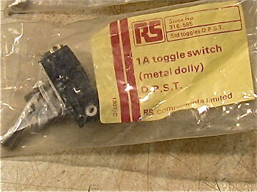 radio parts 1 amp toggle switch D.P. S.T. new old stock