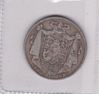1836 George Iiii Silver Halfcrown In Used Fine Or Better Condition