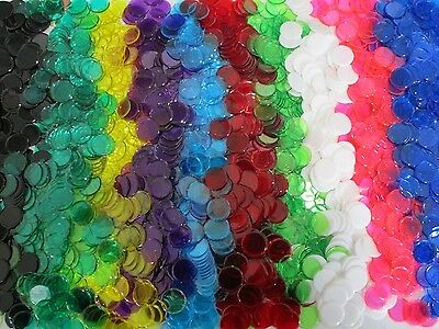 "Bulk Wholesale Professional Bingo or Craft 7/8"" Chips - 10 Colors"