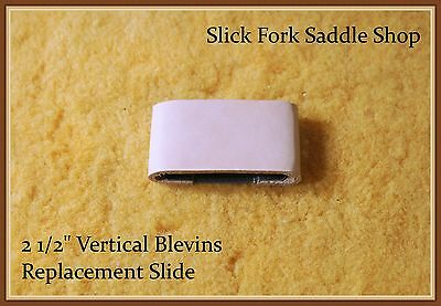 """2 1/2 """"Blevins Stirrup Leather Buckle Vertical Leather Covered Replacement Slide"""