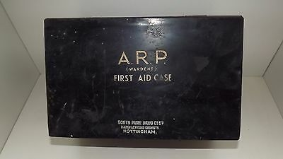 WW2 A.R.P first aid tin empty by boots of Nottingham