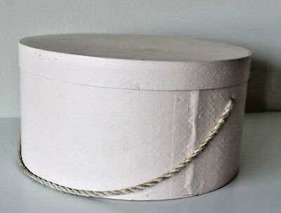 Vintage Hat Box Rose Floral Metal Clasp Handle Shabby French Country Large Pink