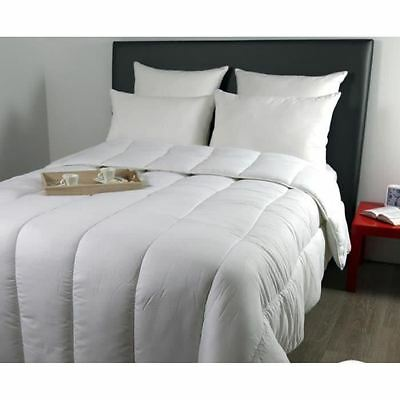 DODO Pack Country - Couette chaude 220x240cm + 2 oreillers 60x60cm blanc