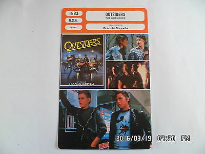 CARTE FICHE CINEMA 1983 OUTSIDERS C. Thomas Howell Matt Dillon Ralph Macchio
