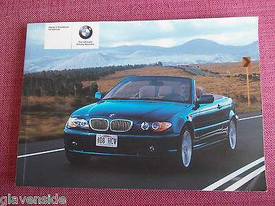 Bmw 3 Series Convertible/cabriolet Handbook - Owners Manual - Guide (Bm 462)
