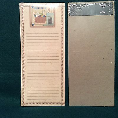 Longaberger To Do List Magnetic Note Pad BEACH AND MARKET BASKET