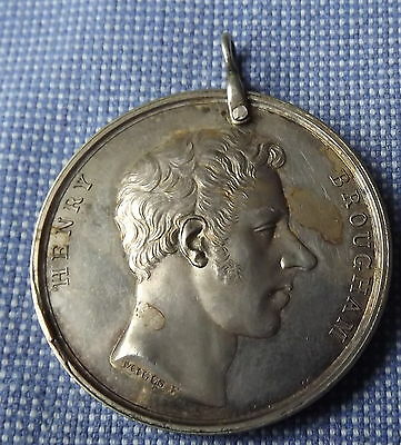 Silver Tribute Medal 1818 Lord Henry Brougham Westmorland Freeholders
