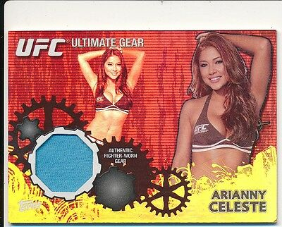 2010 Topps UFC Ultimate Gear Relic Card Octagon Girl ARIANNY CELESTE UG-AC /188