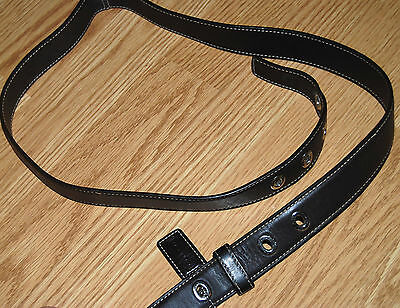 COACH purse Replacement buckled Shoulder Strap BROWN Leather LEGACY DUFFLE + fob