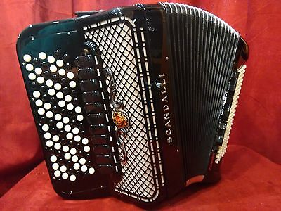 NEW Scandalli Chromatic Button Accordion Cromo B System Balkan LMMH 120