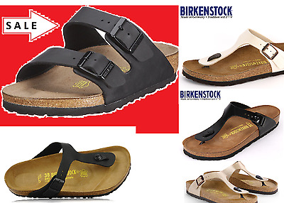BIRKENSTOCK ARIZONA Black ALL SIZES New 2 Gizeh / Black / Soft Footbed / 35 - 46
