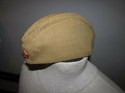 Russian ussr garrison cap hat of the soldiers soviet red army uniform military