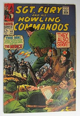 # 46 Sgt. Fury & His Howling Comandos Comic 1967 FN+  Silver Age