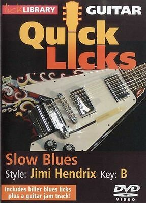 Lick Library QUICK LICKS SLOW BLUES Style JIMI HENDRIX Guitar Lessons Video DVD
