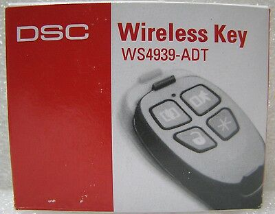 DSC WS4939-ADT Home Alarm Security System Wireless Remote Control Key