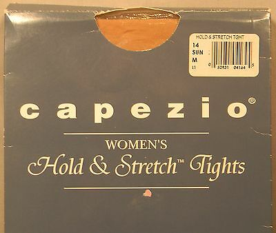 New Capezio Dancer Hold & Stretch Footed Tights Nude Hosiery Sz Med.