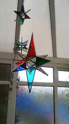 Hand made stained glass Wishing Star sun catcher