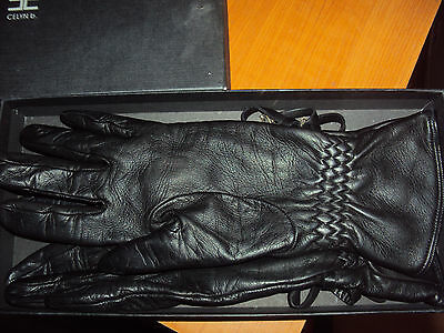 Celyn B guanti neri lunghi in pelle women supersoft leather gloves