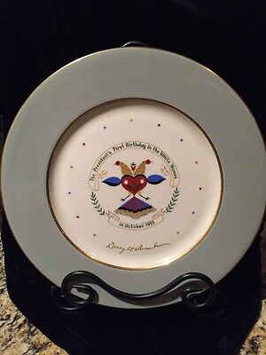 President Eisenhower 1953 First Birthday In The White House Collector Plate  Ex