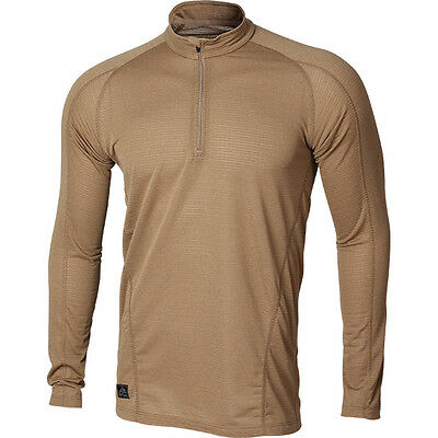 Thermal Underwear Base Layer Tee Shirt Longsleeve Zip Neck Polartec Power Grid