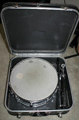 "Pearl Chrome 14"" Snare Drum , Case & Stand Made In Japan"