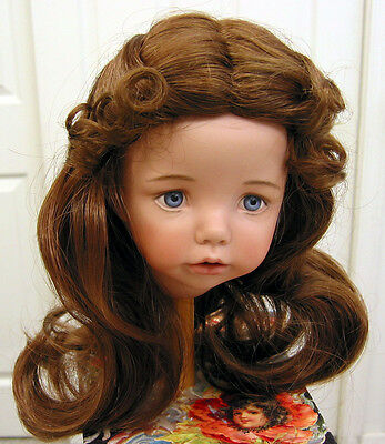 Carmen DOLL WIG Brown size 12-13 long straight hair for lady or girl dolls NEW